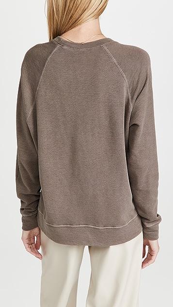 James Perse French Terry Raglan Sweatshirt