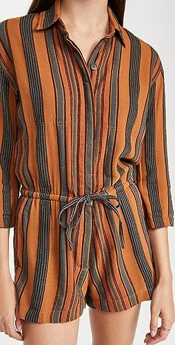 James Perse - Short Vintage Stripe Jumpsuit