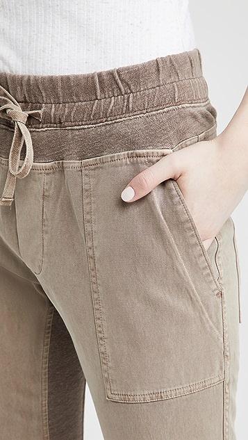 James Perse 撞色运动裤