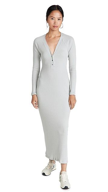 James Perse Henley Rib Jersey Dress