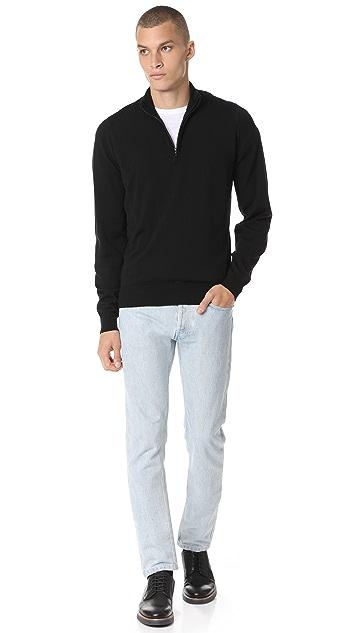 John Smedley Tapton Half Zip Sweater