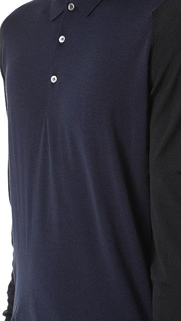 John Smedley Brightgate Long Sleeve Top
