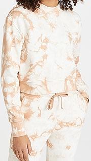 Jonathan Simkhai STANDARD Tie Dye Cropped Sweatshirt