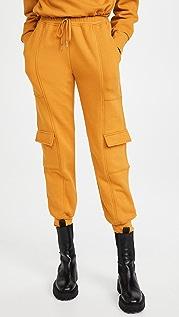 Jonathan Simkhai STANDARD Azalea Terry Sweatshirt Cargo Sweatpants