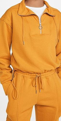 Jonathan Simkhai STANDARD - Zella Terry Sweatshirt Cropped Pullover Sweatshirt