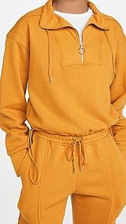 Jonathan Simkhai STANDARD Zella Terry Sweatshirt Cropped Pullover Sweatshirt