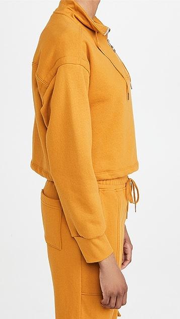 Jonathan Simkhai STANDARD Zella 毛圈布运动衫短款套头衫