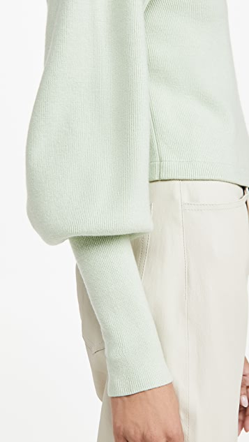 Jonathan Simkhai STANDARD Max Puff Sleeve Turtleneck Top