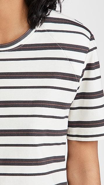 Jonathan Simkhai STANDARD Kyler 肩垫 T 恤