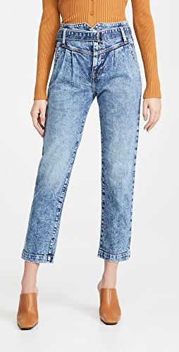 Jonathan Simkhai STANDARD - Theo Belted Pleated Jeans