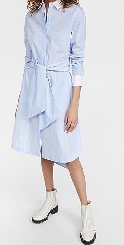Jonathan Simkhai STANDARD - Carla Cotton Oxford Midi Shirt Dress W Tie