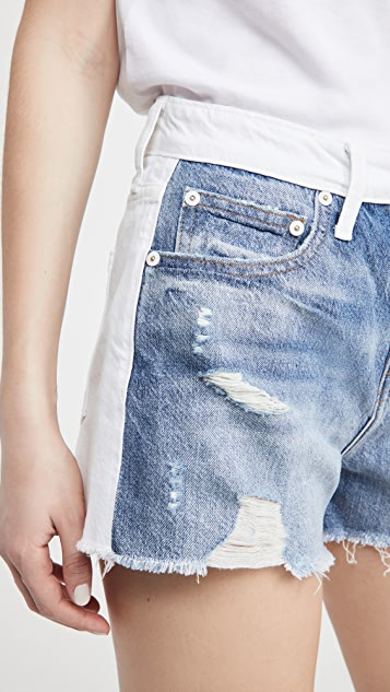 Jonathan Simkhai STANDARD Leo High Rise Vintage Cutoff Shorts
