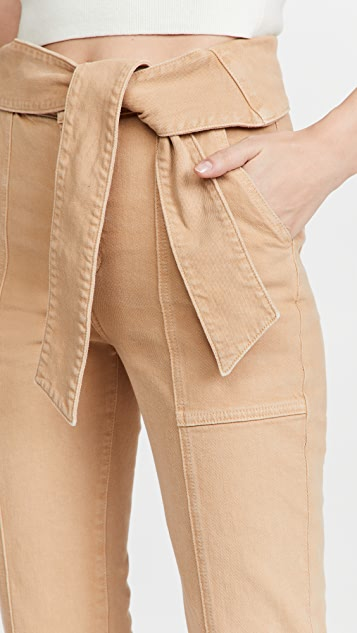 Jonathan Simkhai STANDARD Henley 腰部绑带直脚牛仔裤