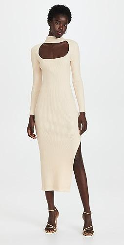 Jonathan Simkhai STANDARD - Kenny Square Neck Dress