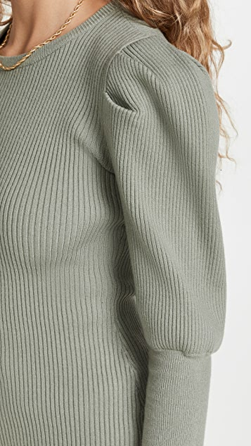 Jonathan Simkhai STANDARD Levy Puff Sleeve Top