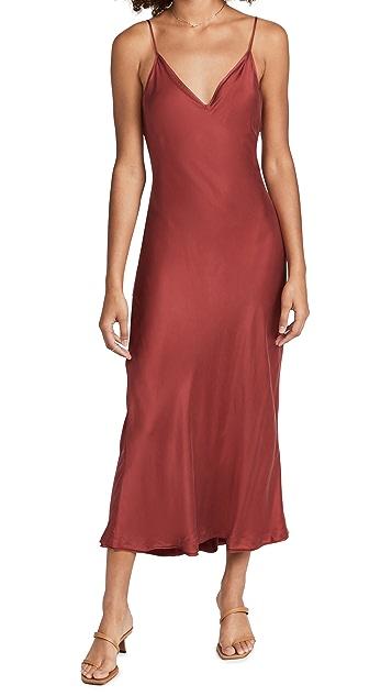 Jonathan Simkhai STANDARD Rhiannon Essentials Bias Midi Slip Dress