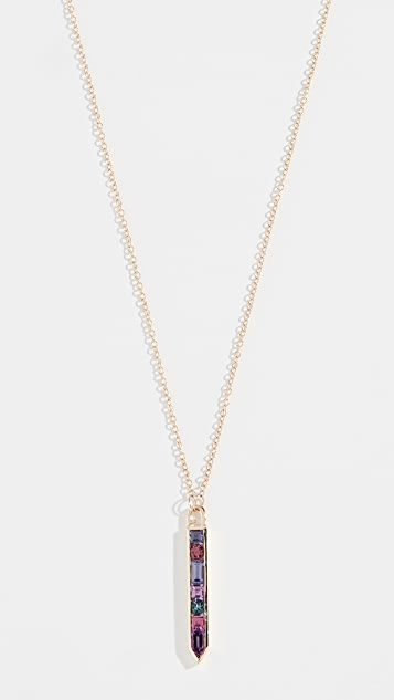 Jane Taylor 14K Vertical Arrow Necklace