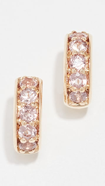 Jane Taylor 14k Garnet Huggie Earrings