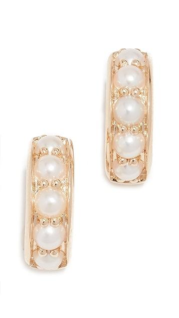 Jane Taylor 14K 珍珠贴耳式耳环