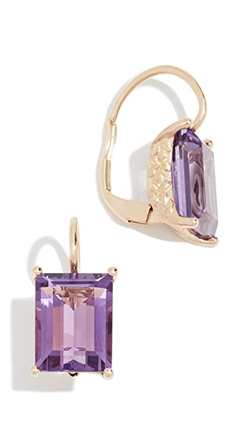 Jane Taylor 14K Baguette Drop Earrings
