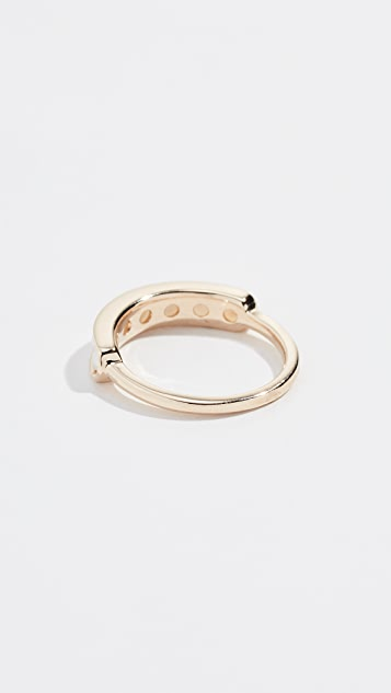 Jane Taylor 14k  Half Eternity Band Ring