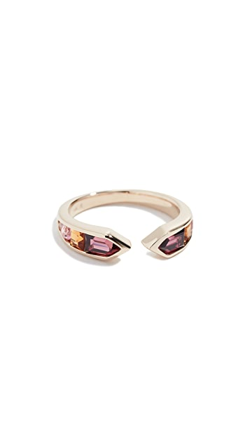 Jane Taylor 14K Meeting Arrows Ring