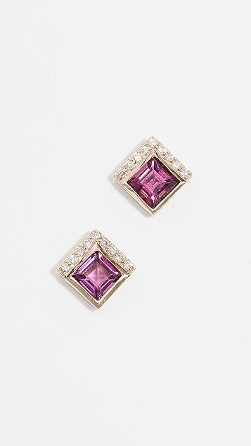 Jane Taylor 14k Square Stud Earrings