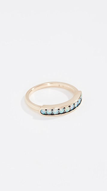 Jane Taylor 14k Half Eternity Band Ring