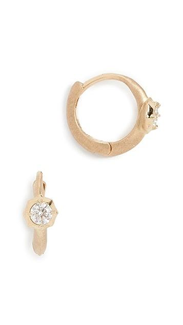 Jade Trau 18k 单石饰贴耳耳环