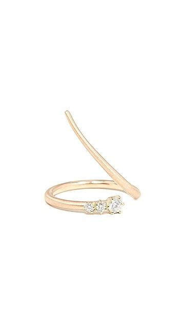 Jade Trau 18k 3 Stone Wrap Ring