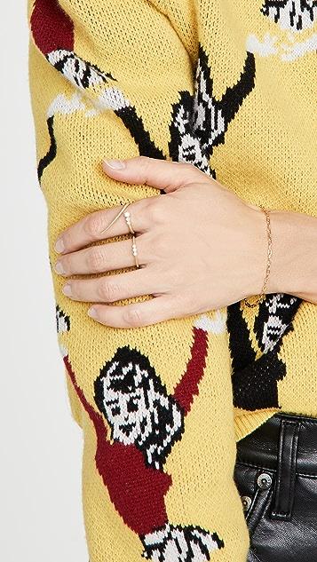 Jade Trau 18k 3 石饰 Catherine 指环