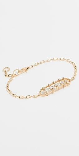 Jade Trau - 18k Penelope Floating Diamond Bracelet