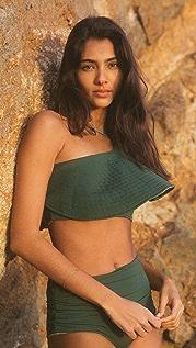 Juan de Dios Sunset Waves Bikini Top