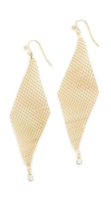 Jules Smith Crystal Mesh Wave Earrings