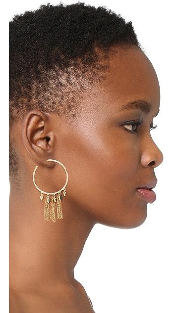 Jules Smith Arya Fringe Hoop Earrings