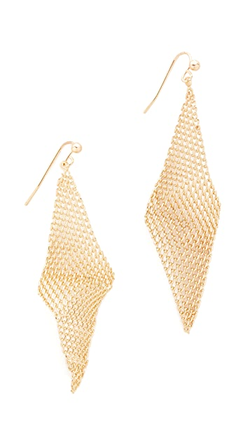 Jules Smith Mini Mesh Wave Earrings
