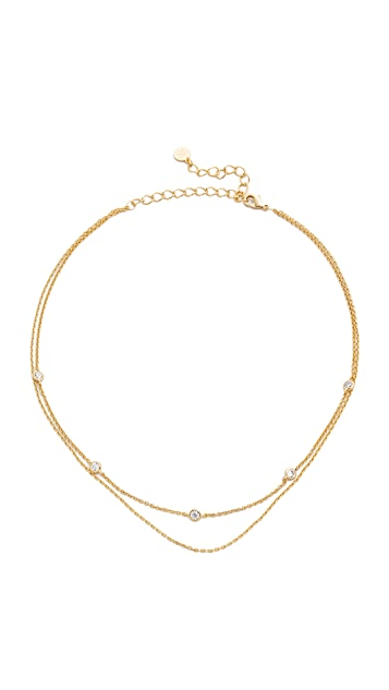 Jules Smith Crimson Chain Choker Necklace