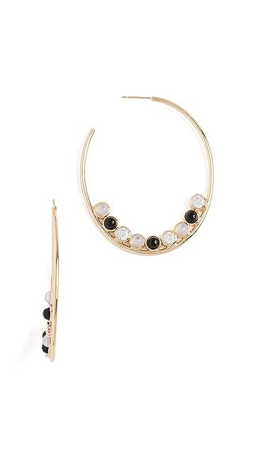 Jules Smith Round Stone Hoop Earrings