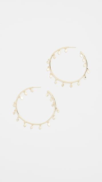 Jules Smith Aida Hoop Earrings - Yellow Gold