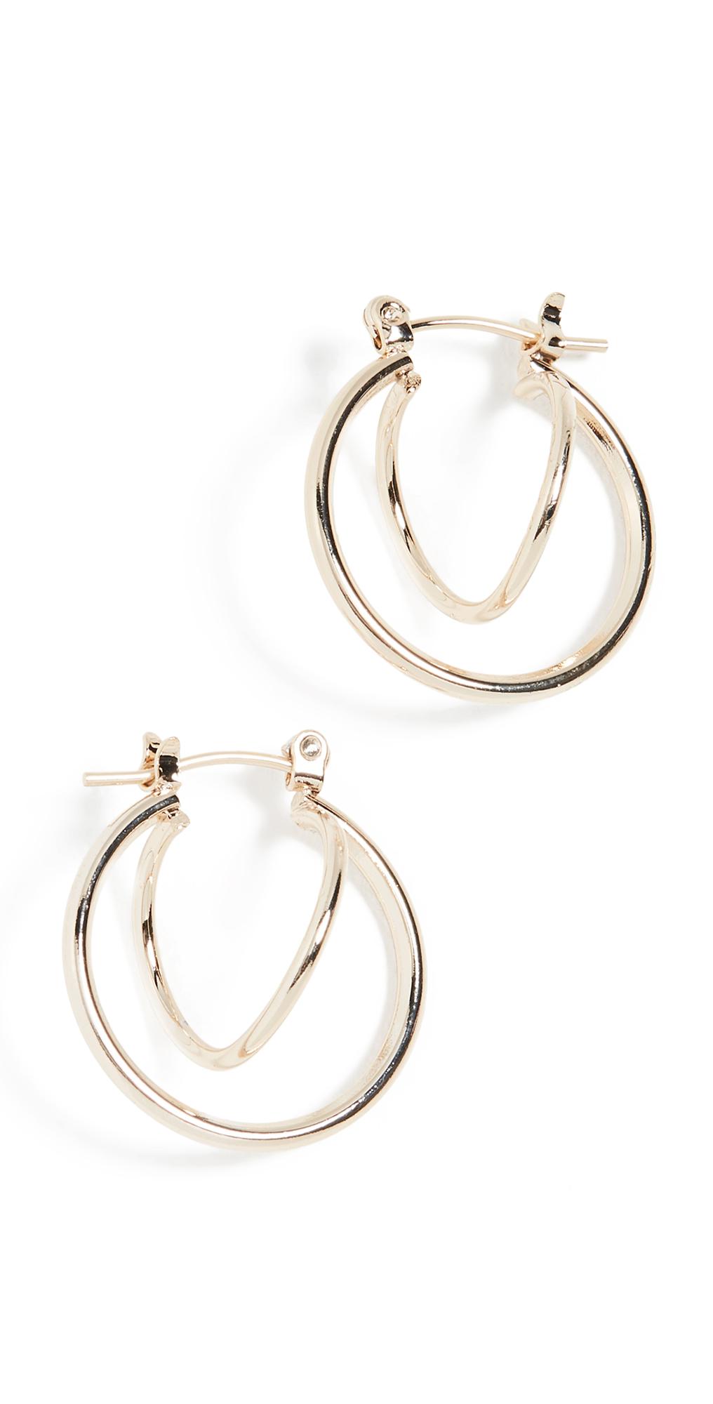 Twisted Huggie Earrings