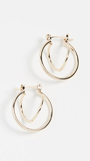 Jules Smith Twisted Huggie Earrings