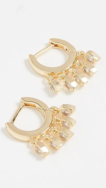 Jules Smith Tear Drop Huggy Earrings - Gold