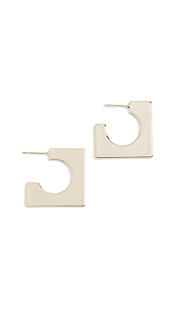 Jules Smith Block Hoop Earrings