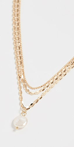 Jules Smith - Layered Freshwater Pearl Mop Necklace