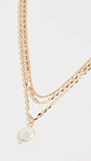 Jules Smith Layered Freshwater Pearl Mop Necklace