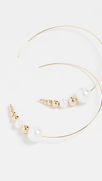 Jules Smith Pearl Threader Earrings