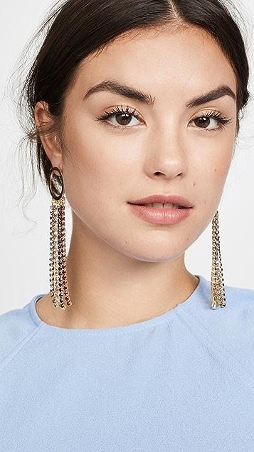 Jules Smith Rainbow Fringe Earrings