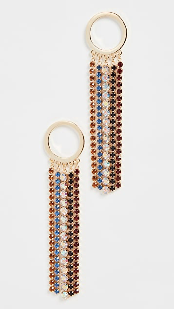 Jules Smith Rainbow Fringe Earrings