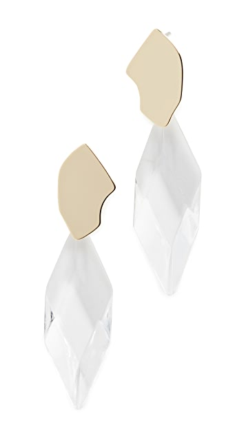 Jules Smith Abstract Crystal Statement Earrings