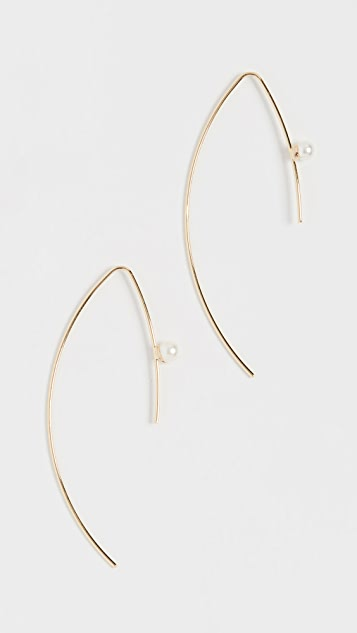 Jules Smith Cultured Pearl Threader Earrings